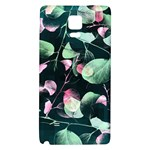 Modern Green And Pink Leaves Galaxy Note 4 Back Case
