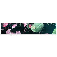 Modern Green And Pink Leaves Flano Scarf (small)  by DanaeStudio