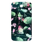 Modern Green And Pink Leaves Samsung Galaxy Mega I9200 Hardshell Back Case