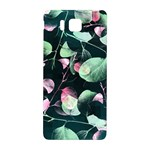 Modern Green And Pink Leaves Samsung Galaxy Alpha Hardshell Back Case