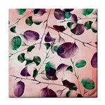 Spiral Eucalyptus Leaves Tile Coasters