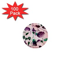 Spiral Eucalyptus Leaves 1  Mini Buttons (100 Pack)  by DanaeStudio