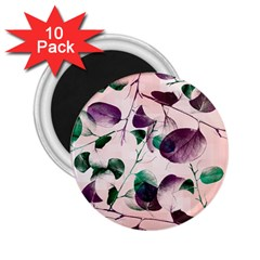Spiral Eucalyptus Leaves 2 25  Magnets (10 Pack)  by DanaeStudio