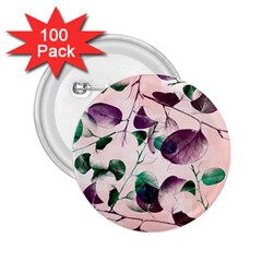 Spiral Eucalyptus Leaves 2 25  Buttons (100 Pack)  by DanaeStudio