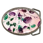 Spiral Eucalyptus Leaves Belt Buckles