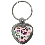 Spiral Eucalyptus Leaves Key Chains (Heart)