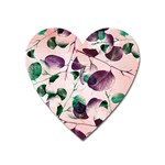 Spiral Eucalyptus Leaves Heart Magnet