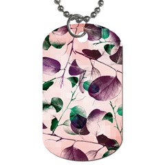 Spiral Eucalyptus Leaves Dog Tag (one Side) by DanaeStudio