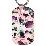 Spiral Eucalyptus Leaves Dog Tag (One Side)