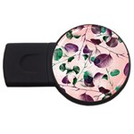 Spiral Eucalyptus Leaves USB Flash Drive Round (2 GB)  Front