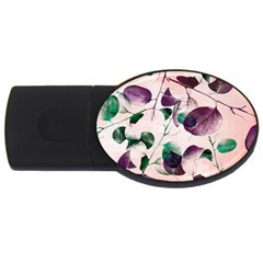 Spiral Eucalyptus Leaves Usb Flash Drive Oval (2 Gb)  by DanaeStudio