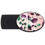 Spiral Eucalyptus Leaves USB Flash Drive Oval (2 GB)
