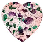 Spiral Eucalyptus Leaves Jigsaw Puzzle (Heart) Front