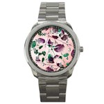 Spiral Eucalyptus Leaves Sport Metal Watch