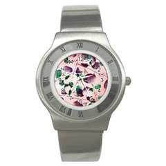 Spiral Eucalyptus Leaves Stainless Steel Watch by DanaeStudio