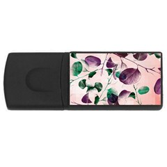 Spiral Eucalyptus Leaves Usb Flash Drive Rectangular (4 Gb)  by DanaeStudio