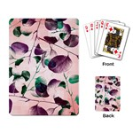 Spiral Eucalyptus Leaves Playing Card