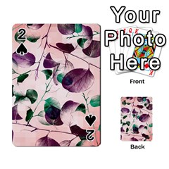 Spiral Eucalyptus Leaves Playing Cards 54 Designs