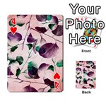 Spiral Eucalyptus Leaves Playing Cards 54 Designs  Front - Heart4