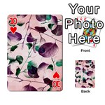 Spiral Eucalyptus Leaves Playing Cards 54 Designs  Front - Heart10