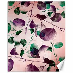 Spiral Eucalyptus Leaves Canvas 16  X 20   by DanaeStudio