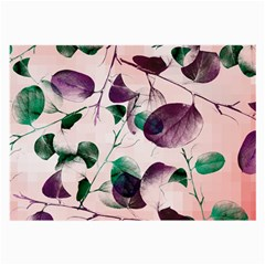 Spiral Eucalyptus Leaves Large Glasses Cloth (2 Side) by DanaeStudio