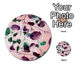 Spiral Eucalyptus Leaves Multi-purpose Cards (Round)  Back 53