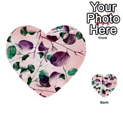 Spiral Eucalyptus Leaves Multi Purpose Cards (heart)