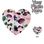Spiral Eucalyptus Leaves Multi-purpose Cards (Heart)  Back 47