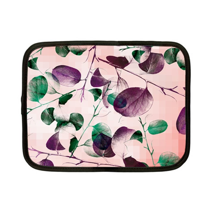 Spiral Eucalyptus Leaves Netbook Case (Small)