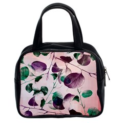 Spiral Eucalyptus Leaves Classic Handbags (2 Sides) by DanaeStudio