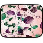 Spiral Eucalyptus Leaves Double Sided Fleece Blanket (Mini)