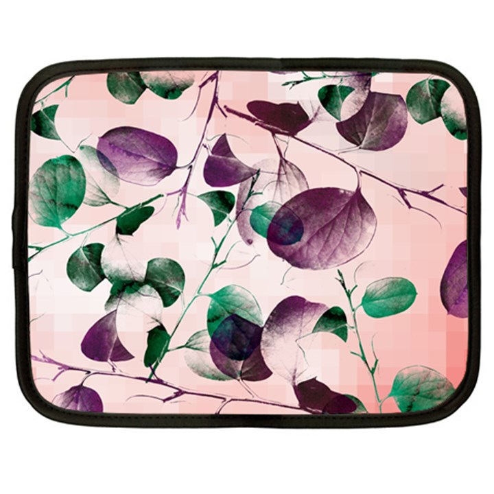 Spiral Eucalyptus Leaves Netbook Case (XL)