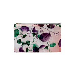 Spiral Eucalyptus Leaves Cosmetic Bag (small)  by DanaeStudio