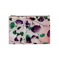Spiral Eucalyptus Leaves Cosmetic Bag (medium)  by DanaeStudio