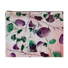 Spiral Eucalyptus Leaves Cosmetic Bag (xl) by DanaeStudio