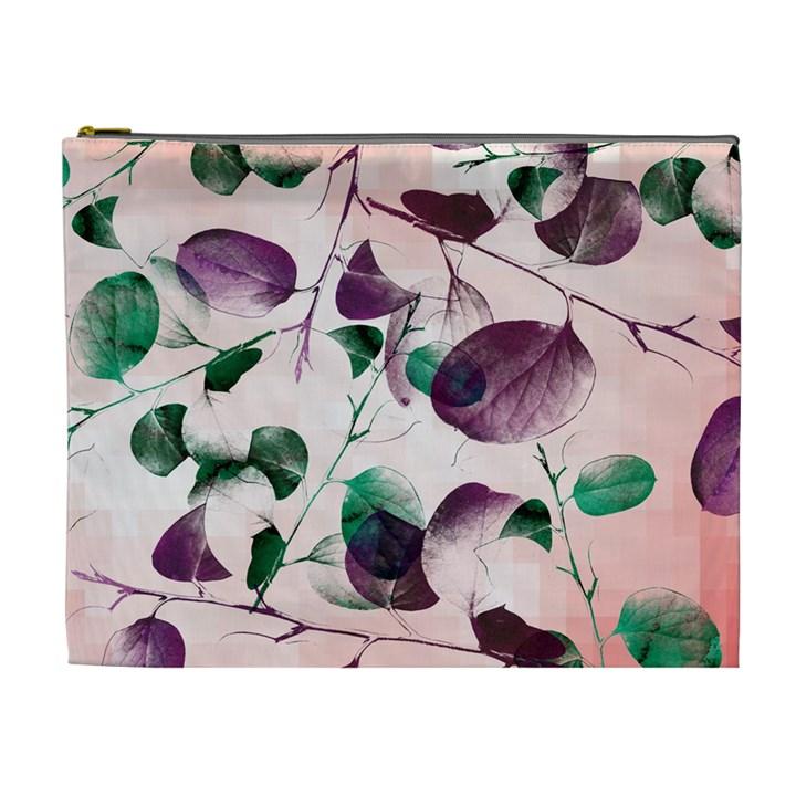 Spiral Eucalyptus Leaves Cosmetic Bag (XL)