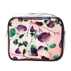 Spiral Eucalyptus Leaves Mini Toiletries Bags by DanaeStudio