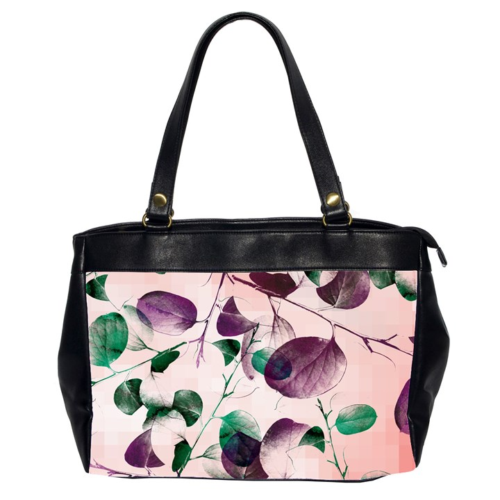 Spiral Eucalyptus Leaves Office Handbags (2 Sides)