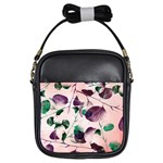 Spiral Eucalyptus Leaves Girls Sling Bags