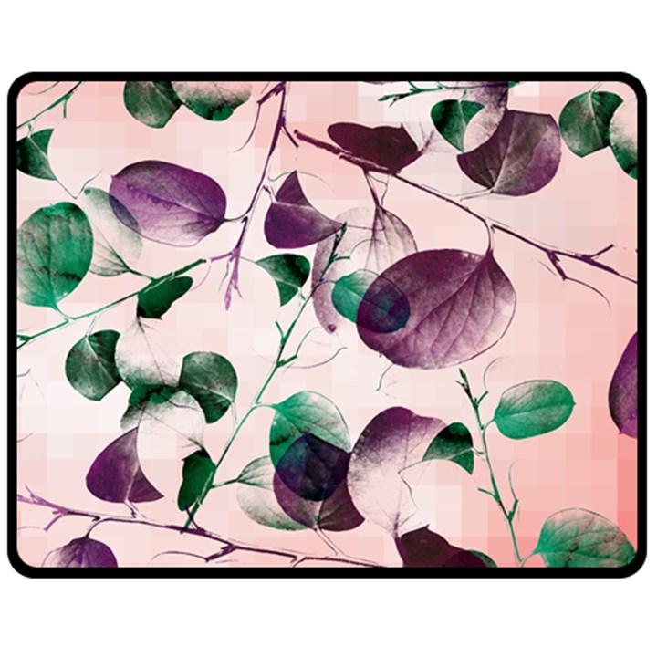 Spiral Eucalyptus Leaves Fleece Blanket (Medium)