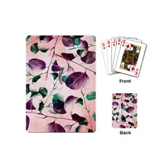 Spiral Eucalyptus Leaves Playing Cards (mini)  by DanaeStudio