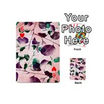 Spiral Eucalyptus Leaves Playing Cards 54 (Mini)  Front - Heart6