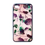 Spiral Eucalyptus Leaves Apple iPhone 4 Case (Black)