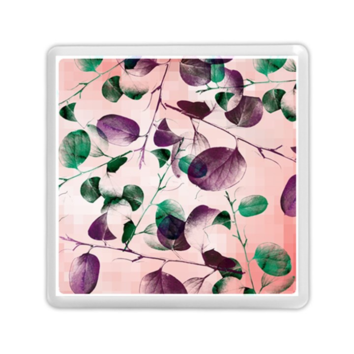 Spiral Eucalyptus Leaves Memory Card Reader (Square)