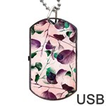 Spiral Eucalyptus Leaves Dog Tag USB Flash (One Side)