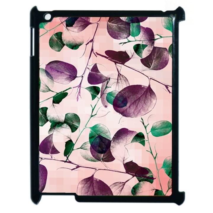 Spiral Eucalyptus Leaves Apple iPad 2 Case (Black)