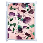 Spiral Eucalyptus Leaves Apple iPad 2 Case (White)
