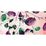 Spiral Eucalyptus Leaves Twin Hearts 3D Greeting Card (8x4) Front