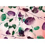 Spiral Eucalyptus Leaves Circle Bottom 3D Greeting Card (7x5) Back